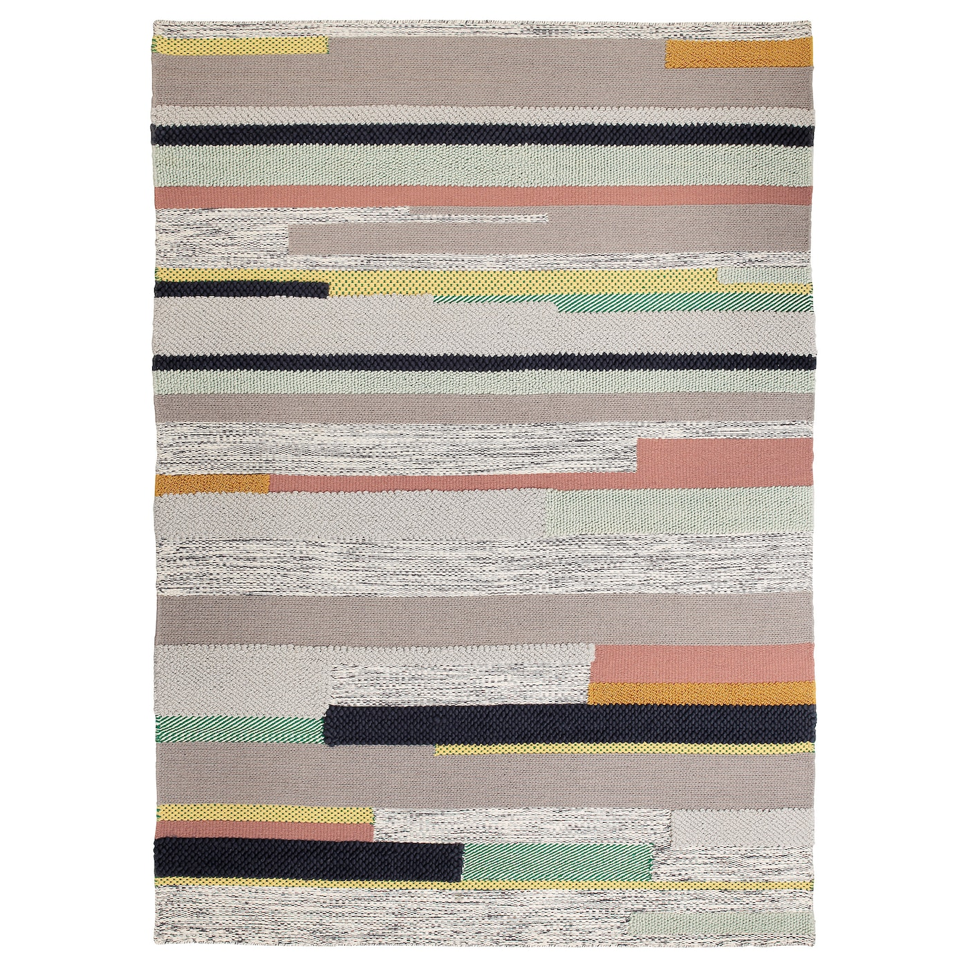 br nden tapis poils ras fait main multicolore 170x240 cm ikea. Black Bedroom Furniture Sets. Home Design Ideas