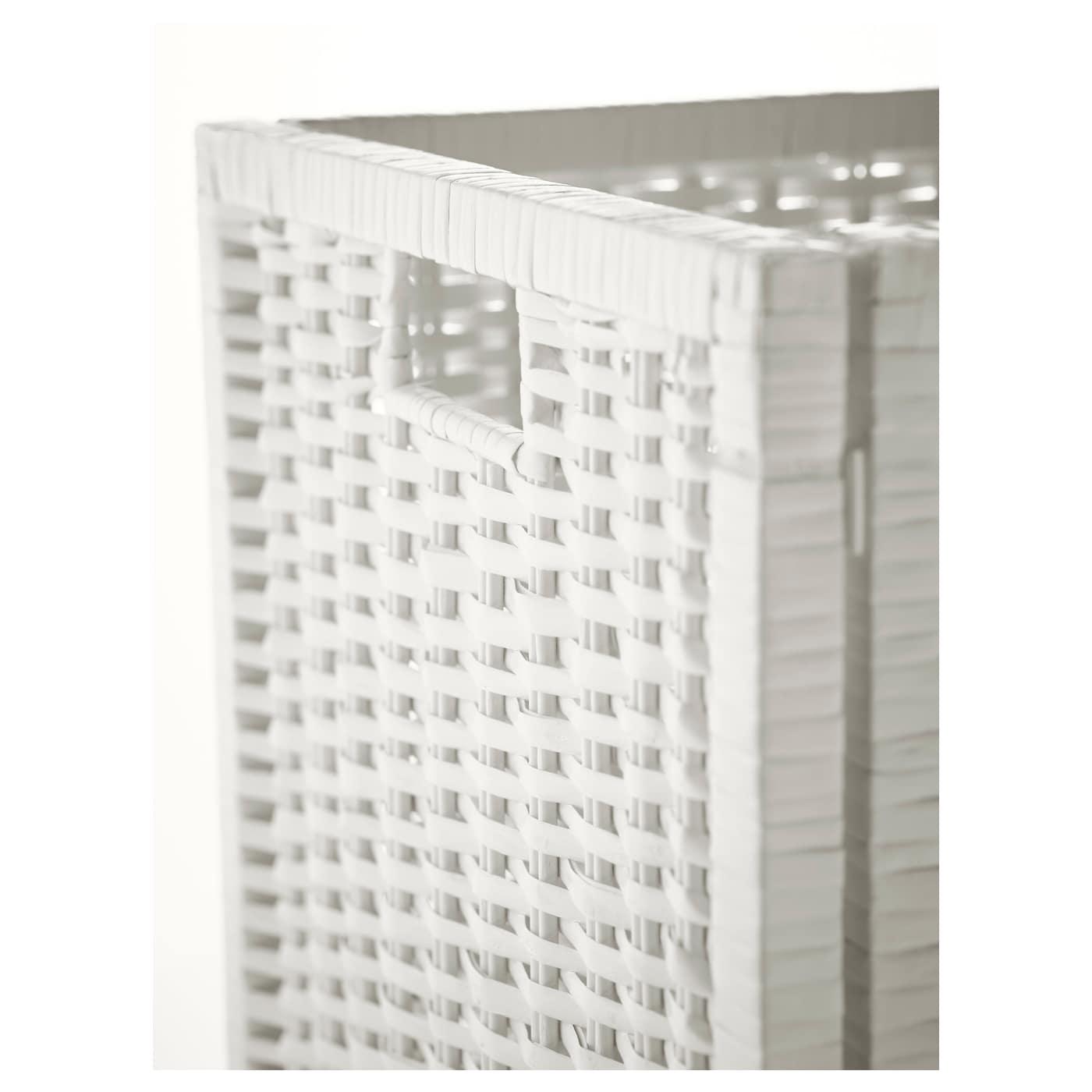 Bran s panier blanc 32 x 34 x 32 cm ikea for Paniers blancs ikea