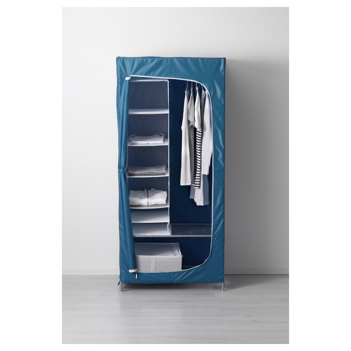 breim armoire penderie bleu 80x55x180 cm ikea. Black Bedroom Furniture Sets. Home Design Ideas