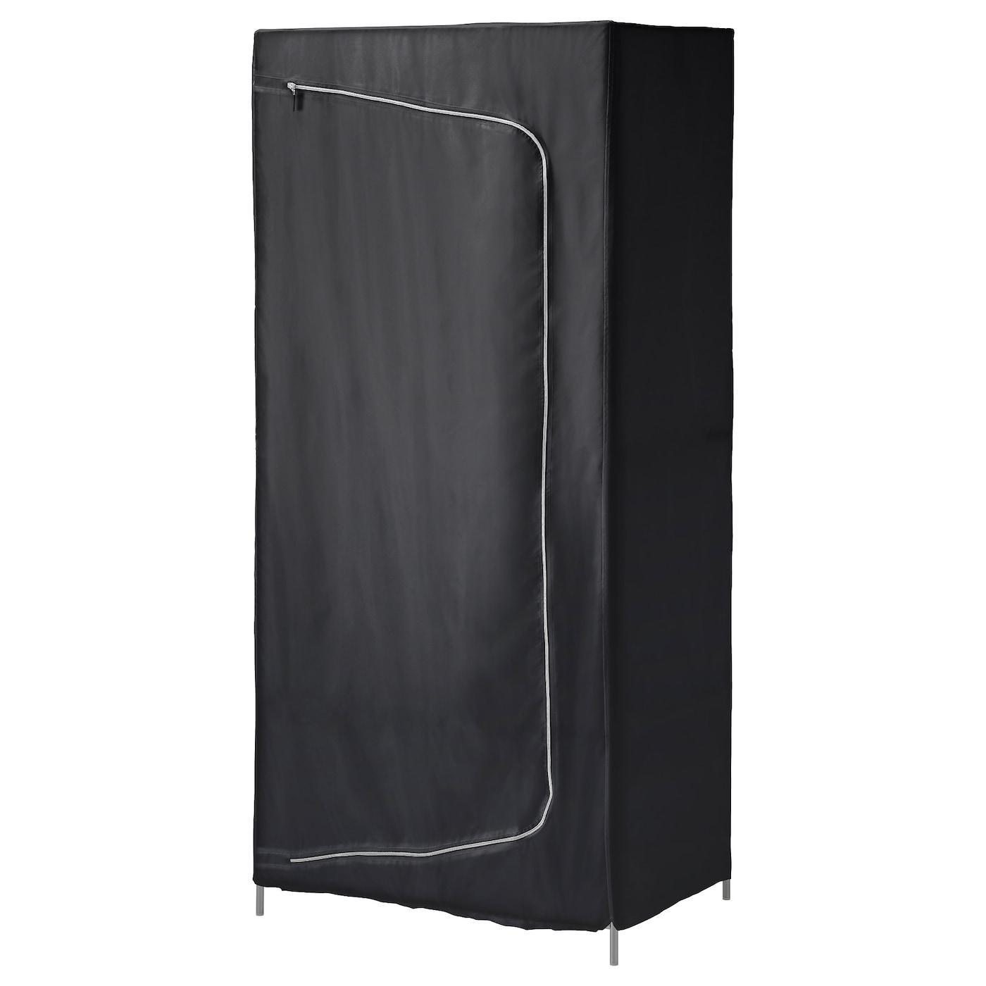 breim armoire penderie noir 80x55x180 cm ikea. Black Bedroom Furniture Sets. Home Design Ideas