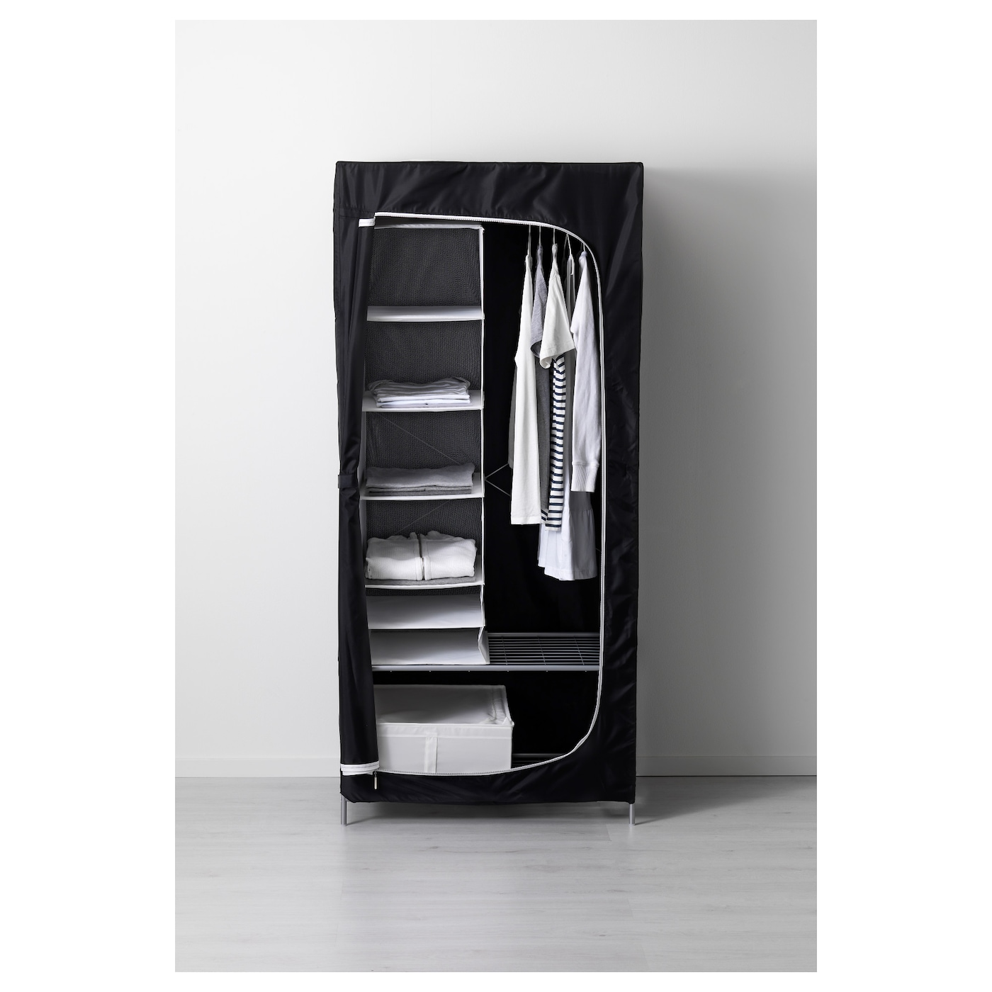 breim armoire penderie noir 80 x 55 x 180 cm ikea. Black Bedroom Furniture Sets. Home Design Ideas
