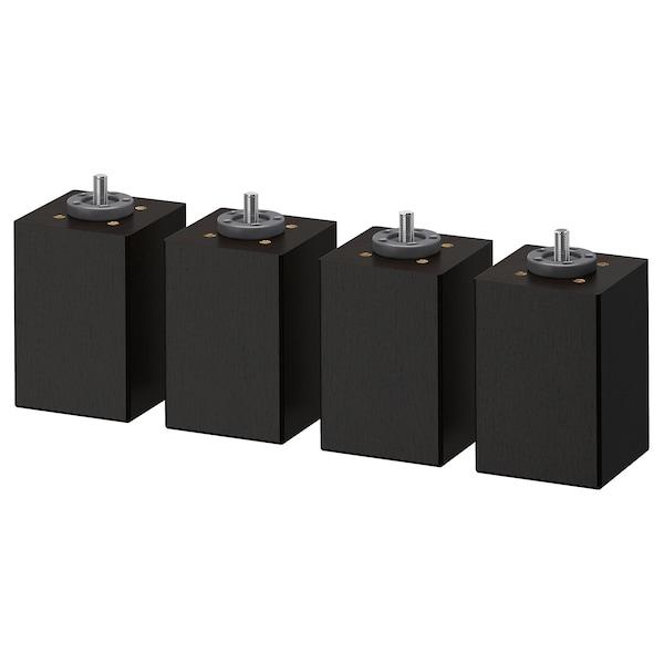BRENNÅSEN Pied, teinté noir, 10 cm