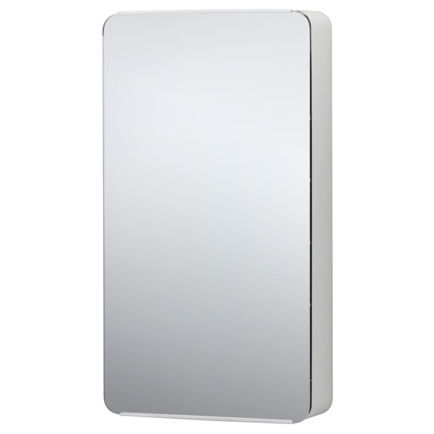 Brickan miroir avec rangement blanc 20x100 cm ikea for Miroir salle de bain ikea