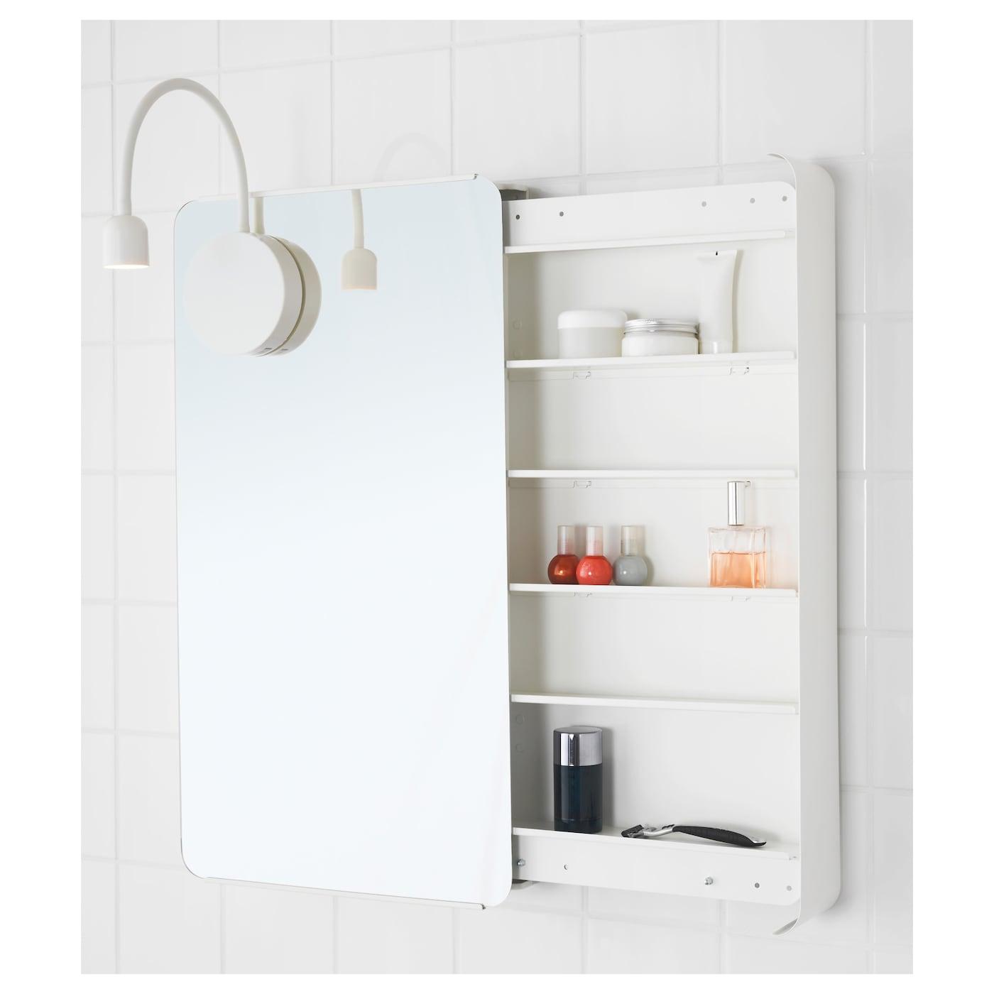 Brickan meuble avec miroir blanc 40x73 cm ikea for Meuble miroir ikea