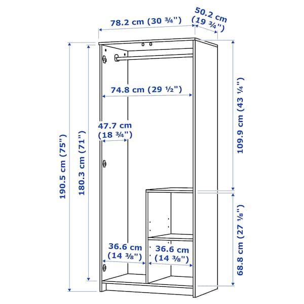 BRIMNES Armoire 2 portes, blanc, 78x190 cm