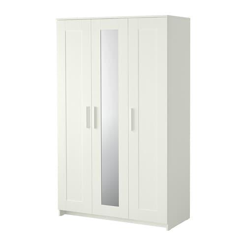 Brimnes armoire 3 portes blanc ikea - Armoire noir et blanc ...