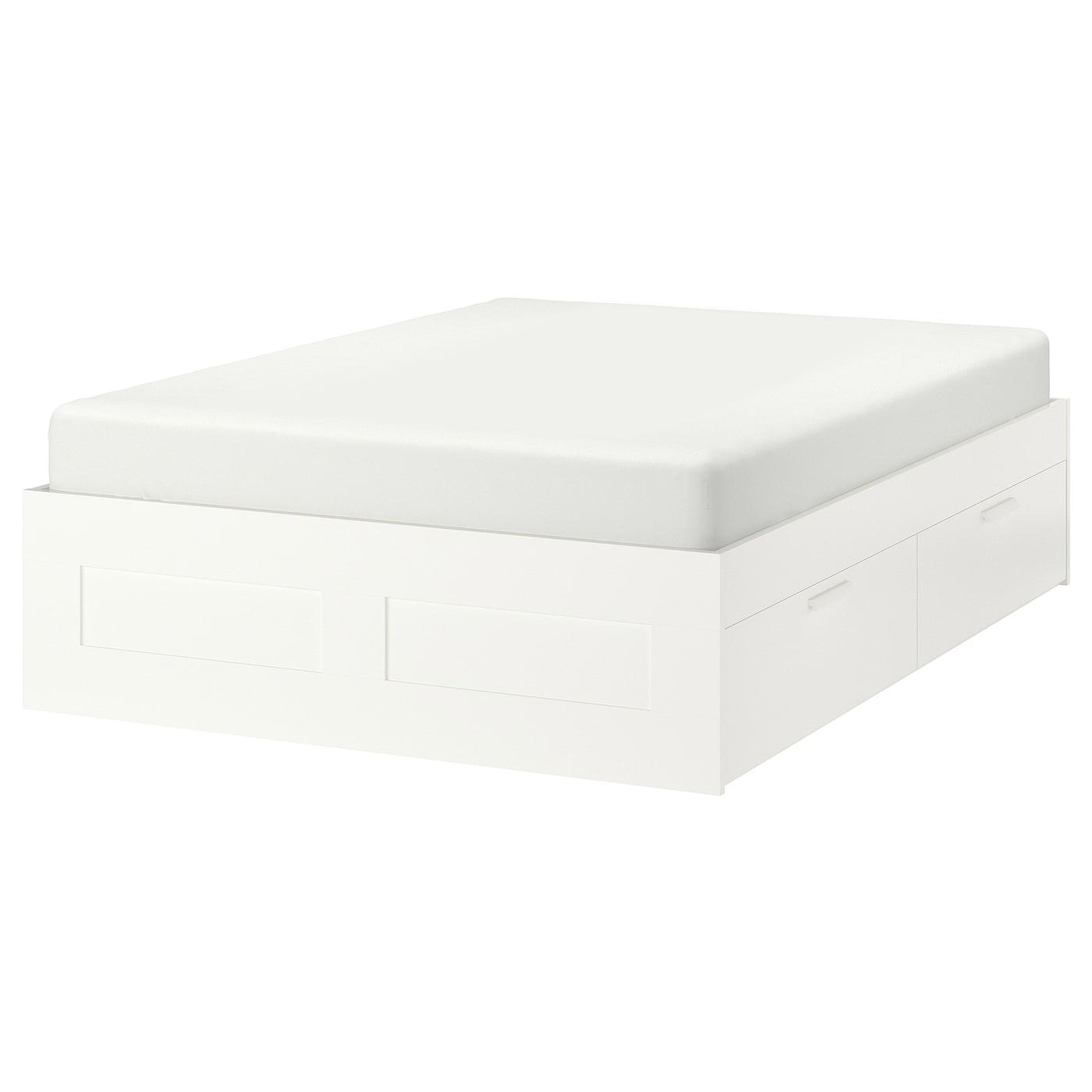 brimnes cadre lit avec rangement blanc 140 x 200 cm ikea. Black Bedroom Furniture Sets. Home Design Ideas