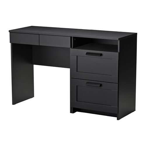 brimnes coiffeuse commode 2 tiroirs noir ikea. Black Bedroom Furniture Sets. Home Design Ideas