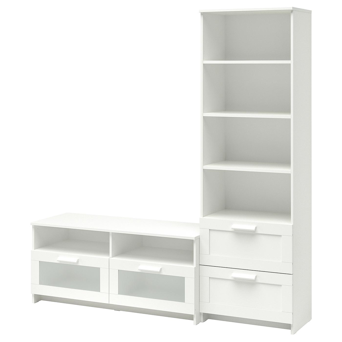 brimnes combinaison meuble tv blanc 180 x 41 x 190 cm ikea. Black Bedroom Furniture Sets. Home Design Ideas