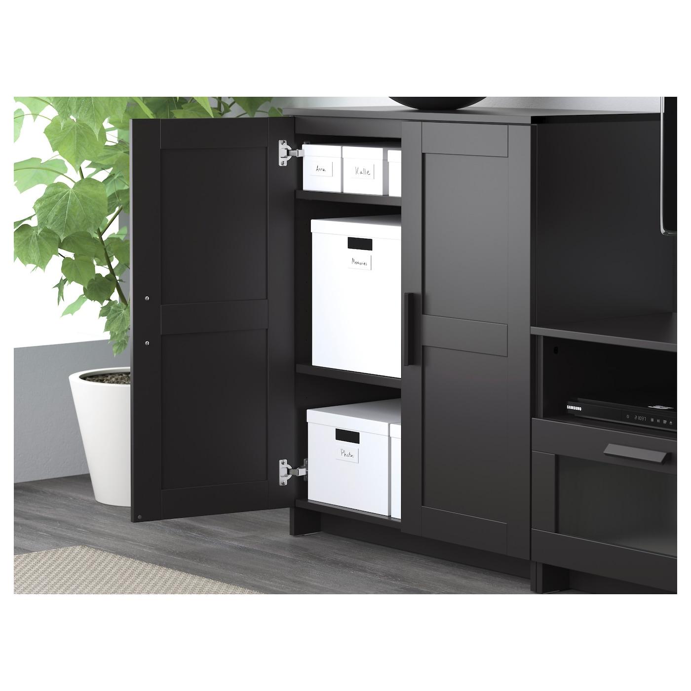 Brimnes combinaison meuble tv noir 258 x 41 x 190 cm ikea for Meuble brimnes ikea