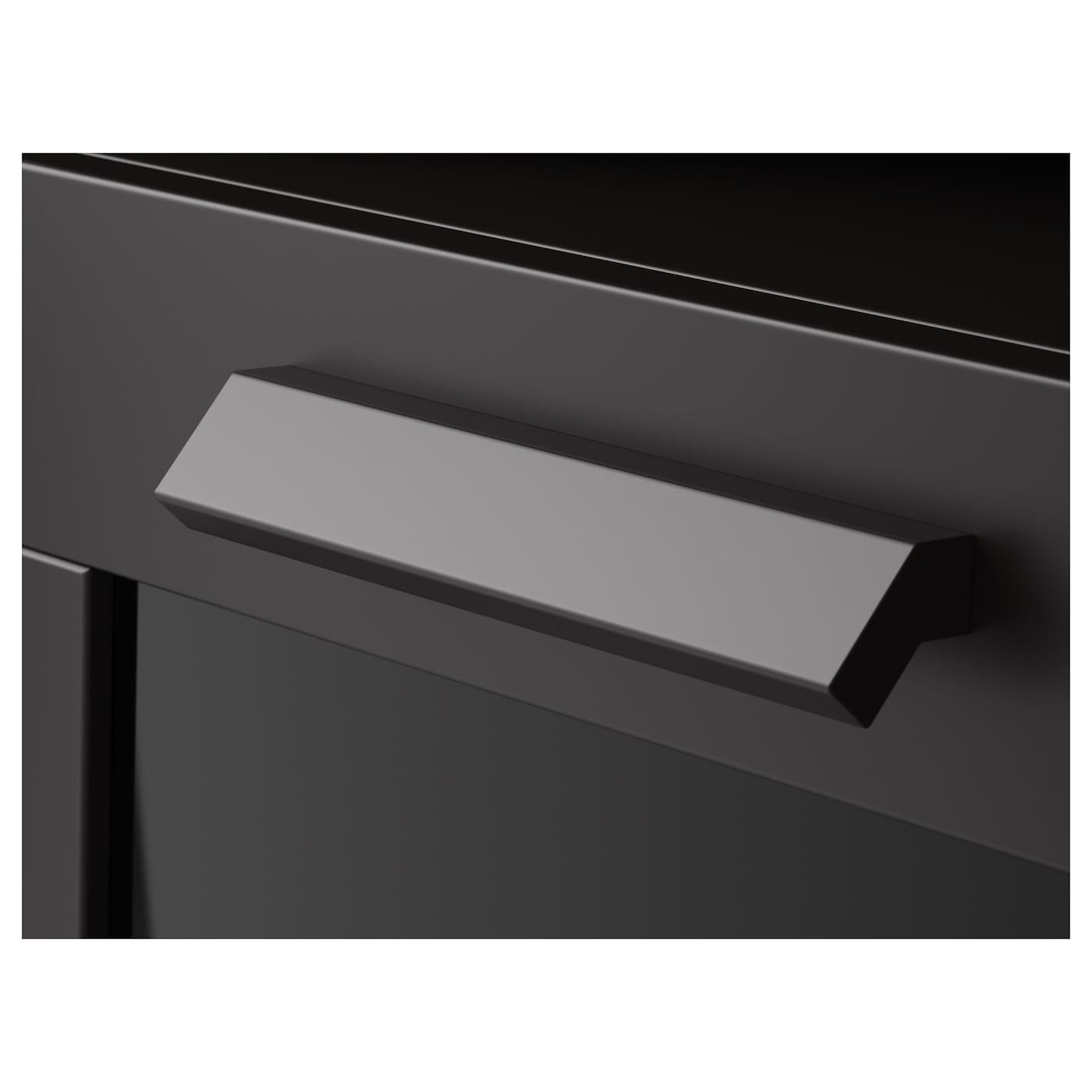 brimnes commode 2 tiroirs noir 50x77 cm ikea. Black Bedroom Furniture Sets. Home Design Ideas
