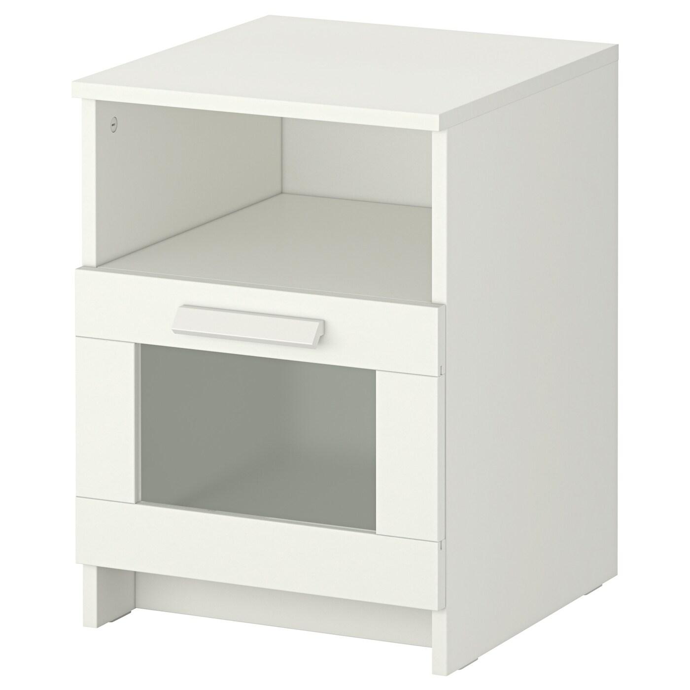 BRIMNES Table de chevet Blanc 43x43 cm - IKEA - Table De Chevet Blanche