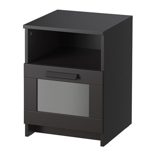 brimnes table de chevet noir ikea. Black Bedroom Furniture Sets. Home Design Ideas