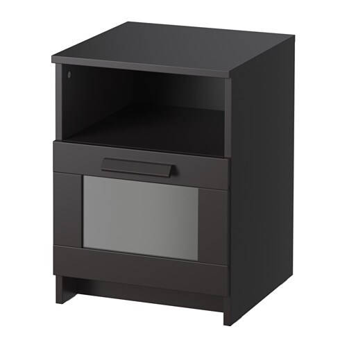 brimnes table de chevet noir 39x41 cm ikea. Black Bedroom Furniture Sets. Home Design Ideas