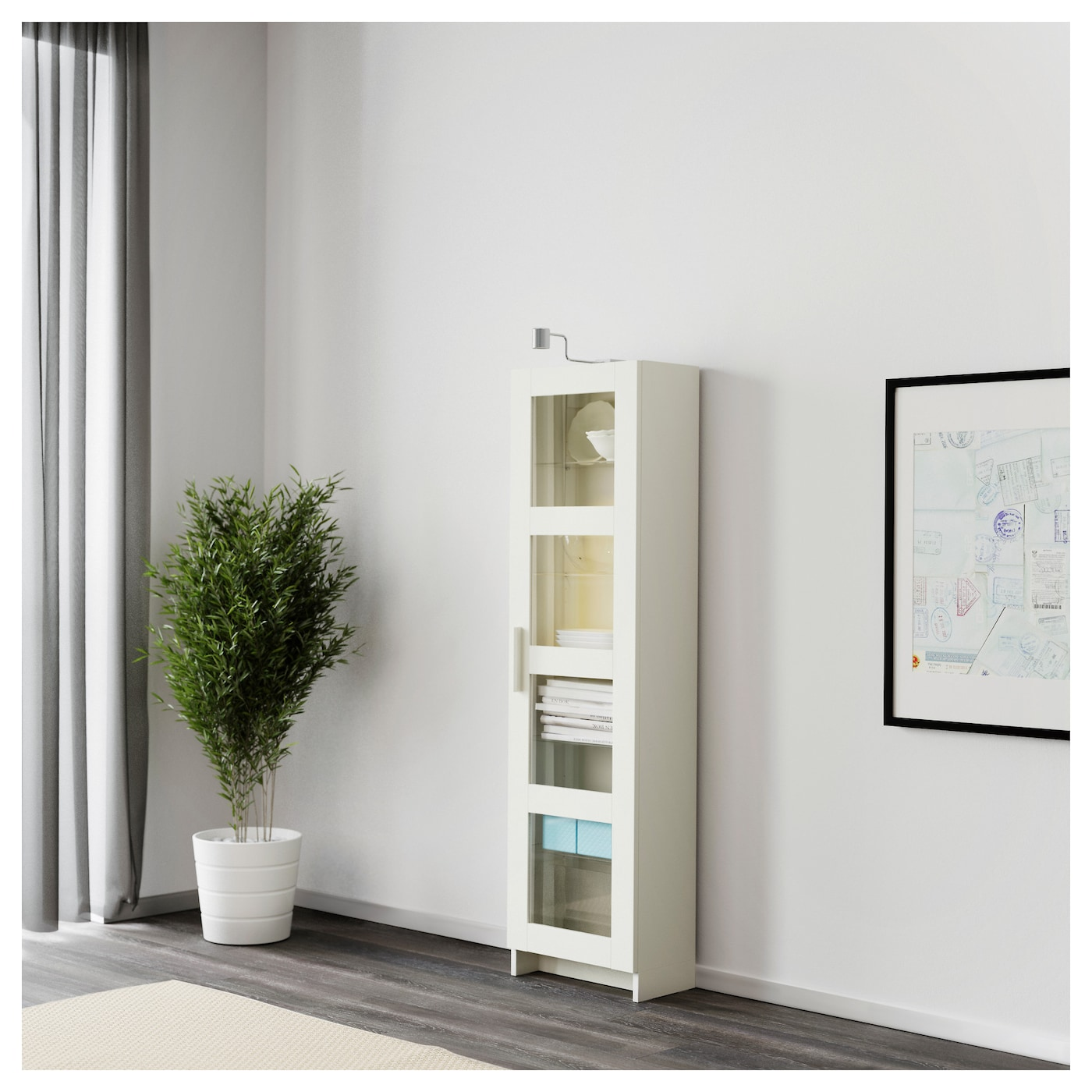 brimnes vitrine blanc 39x142 cm ikea. Black Bedroom Furniture Sets. Home Design Ideas