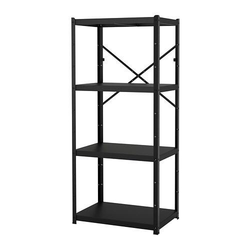 Bror étagère Noir 85 X 55 X 190 Cm Ikea