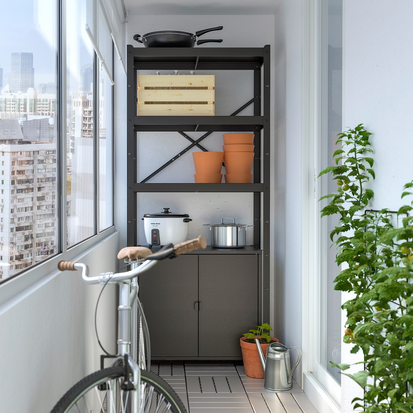 BROR Colonne, noir, 85x40x190 cm - IKEA