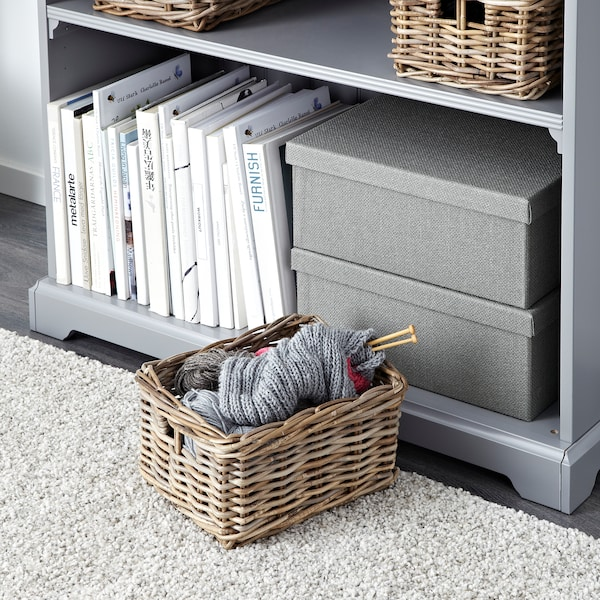 BYHOLMA Panier, gris, 25x29x15 cm
