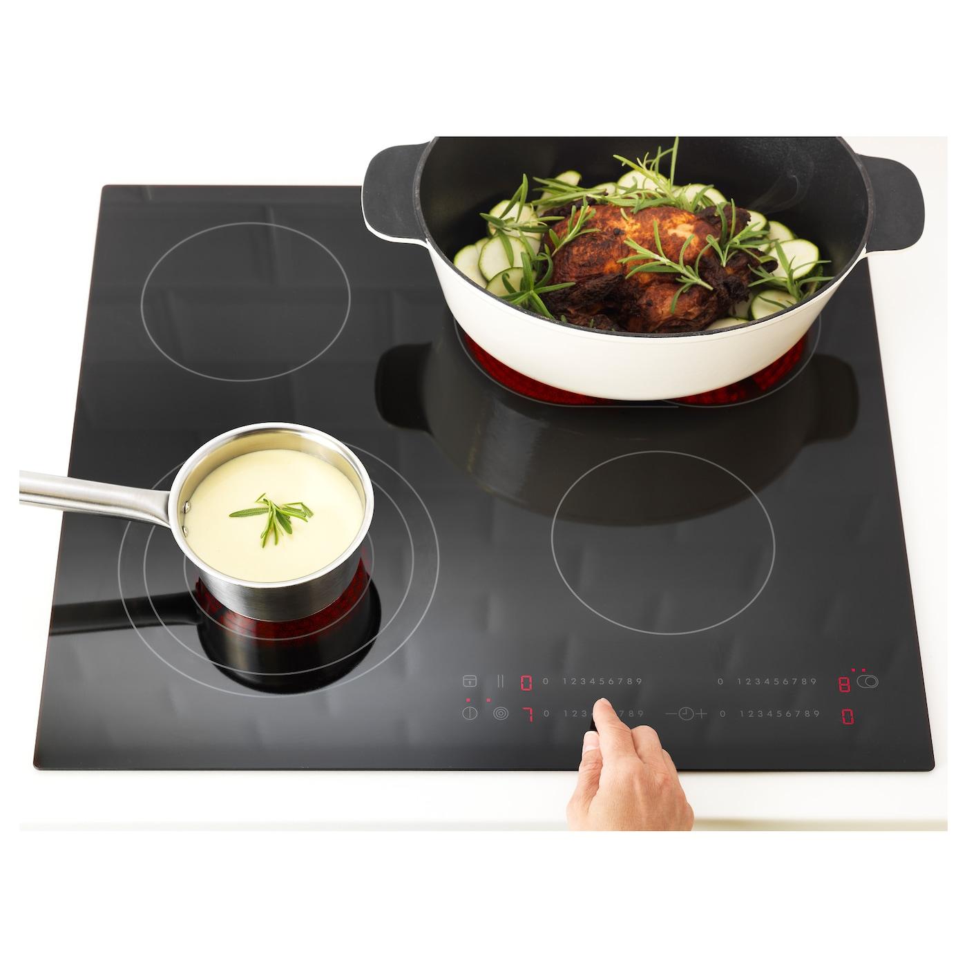 Daglig table de cuisson vitroc ramique noir 59 cm ikea - Table de cuisson ikea ...