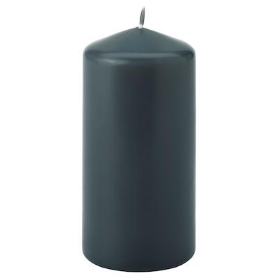 DAGLIGEN Bougie bloc non parfumée, gris foncé, 14 cm