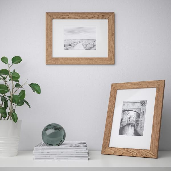 DALSKÄRR Cadre, effet bois/brun clair, 21x30 cm