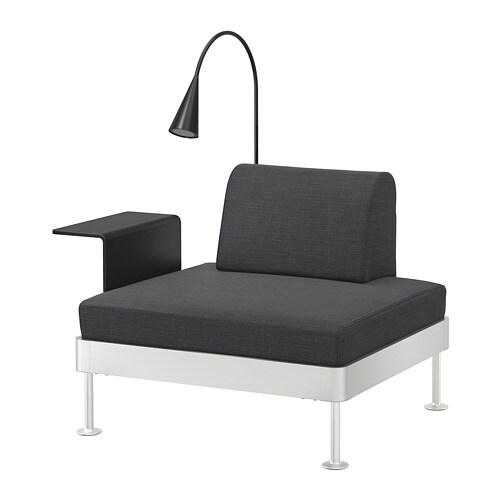 delaktig fauteuil av table d 39 app et lampe hillared anthracite ikea. Black Bedroom Furniture Sets. Home Design Ideas