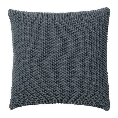 dorthe coussin gris fonc 50 x 50 cm ikea. Black Bedroom Furniture Sets. Home Design Ideas