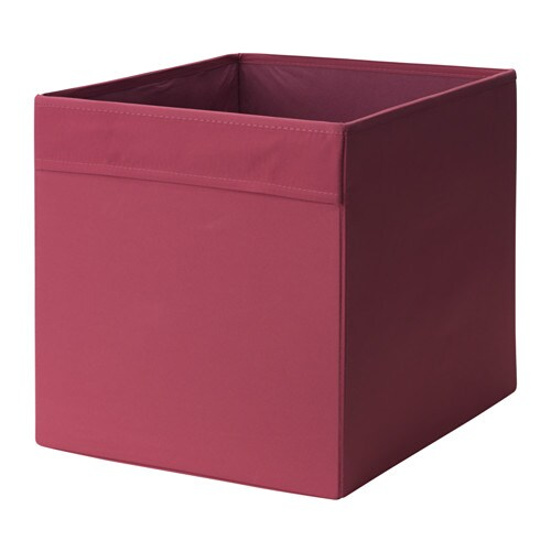 dr na rangement tissu rouge clair 33x38x33 cm ikea. Black Bedroom Furniture Sets. Home Design Ideas