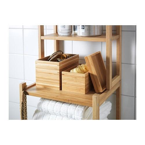 DRAGAN Accessoires bain, 4 pièces Bambou - IKEA