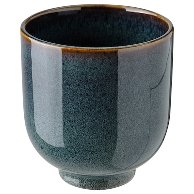 DRÖMSK Cache-pot, intérieur/extérieur bleu foncé, 9 cm