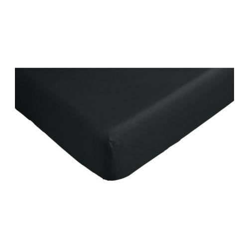 dvala drap housse noir 180x200 cm ikea. Black Bedroom Furniture Sets. Home Design Ideas