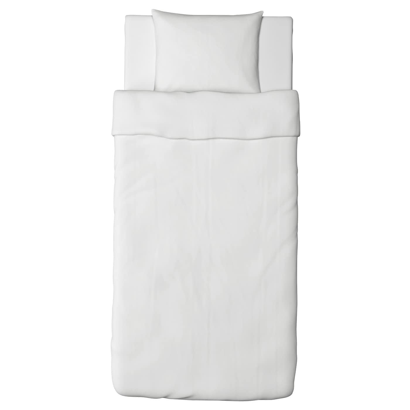 dvala housse de couette et taie blanc 150 x 200 50 x 60 cm ikea. Black Bedroom Furniture Sets. Home Design Ideas