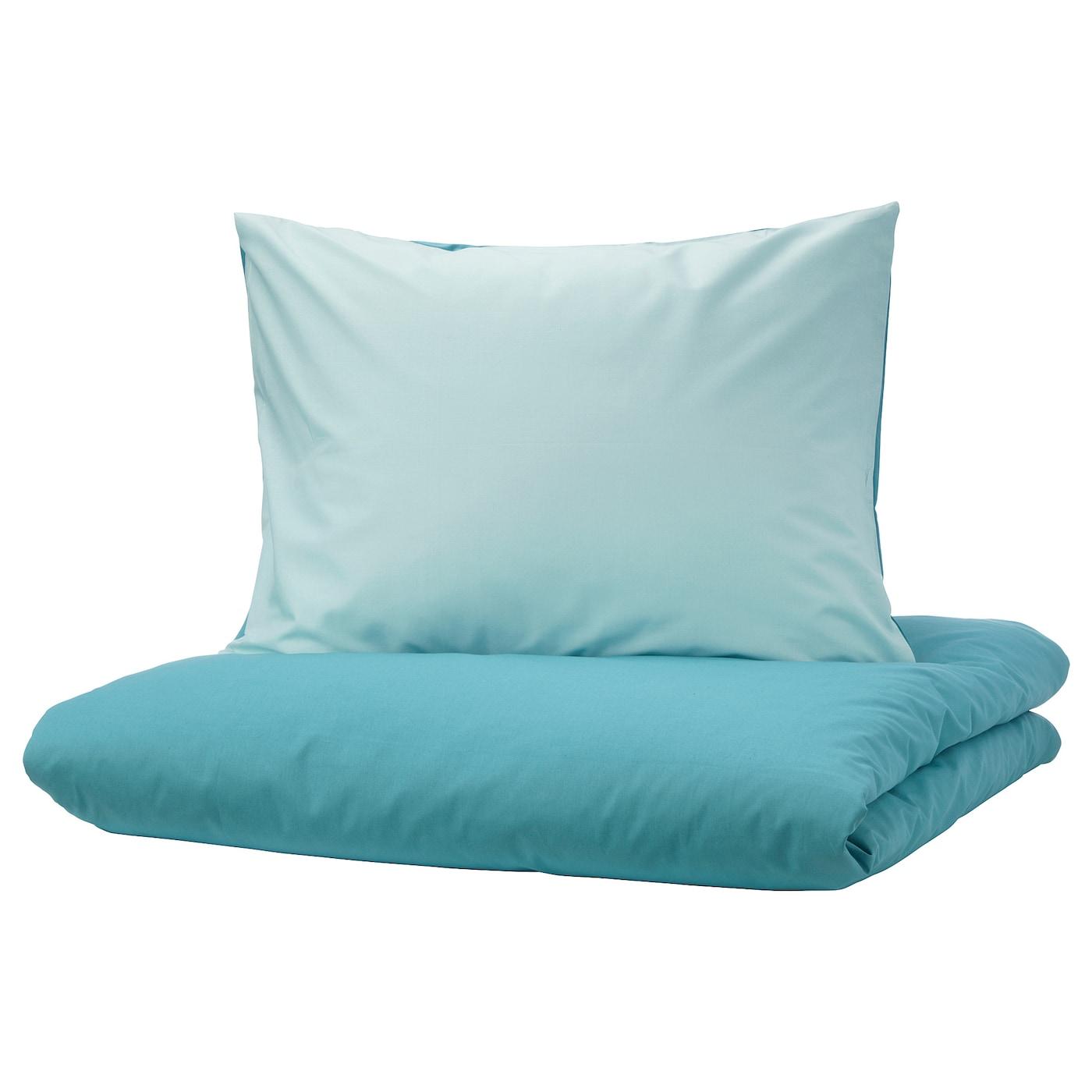 Dvala Housse De Couette Et Taie Bleu 150 X 200 50 X 60 Cm Ikea
