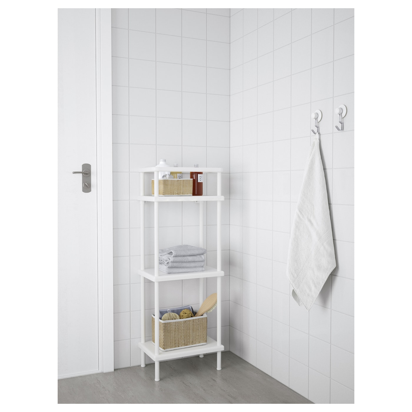 dynan tag re avec porte serviettes blanc 40x27x108 cm ikea. Black Bedroom Furniture Sets. Home Design Ideas