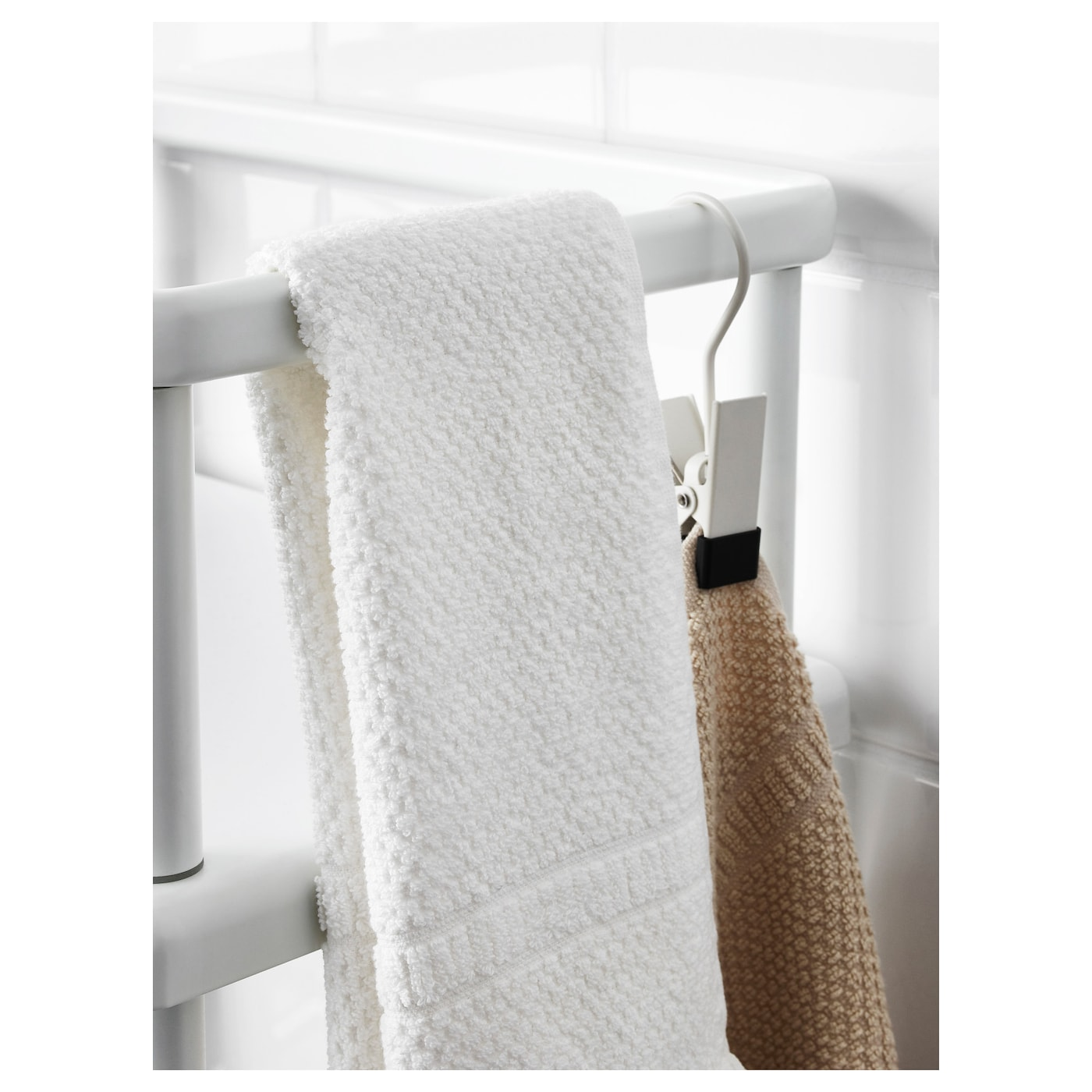 DYNAN Étagère avec porte-serviettes Blanc 40 x 27 x 108 cm - IKEA