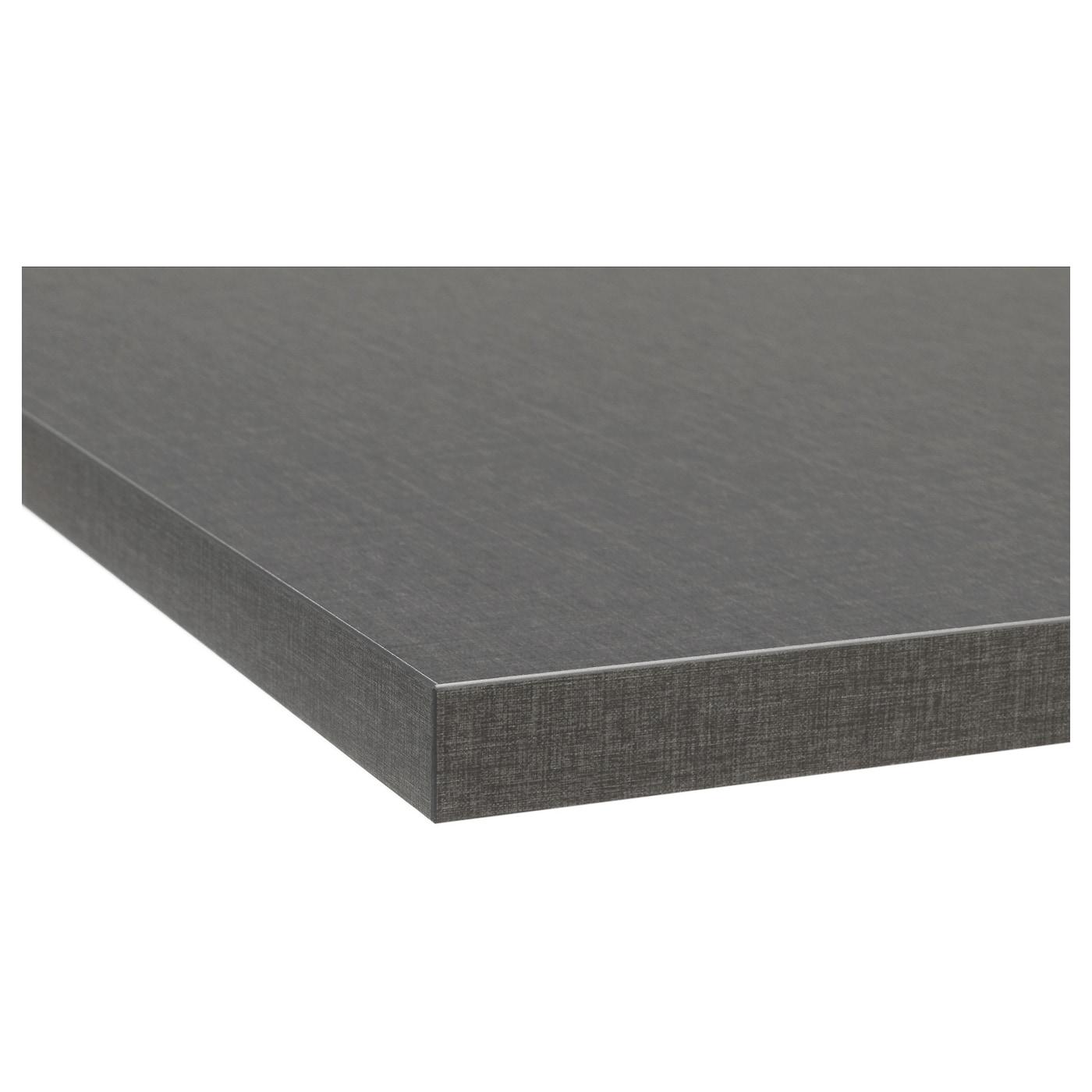 Ekbacken plan de travail sur mesure gris fonc motif lin for Plan de travail stratifie sur mesure