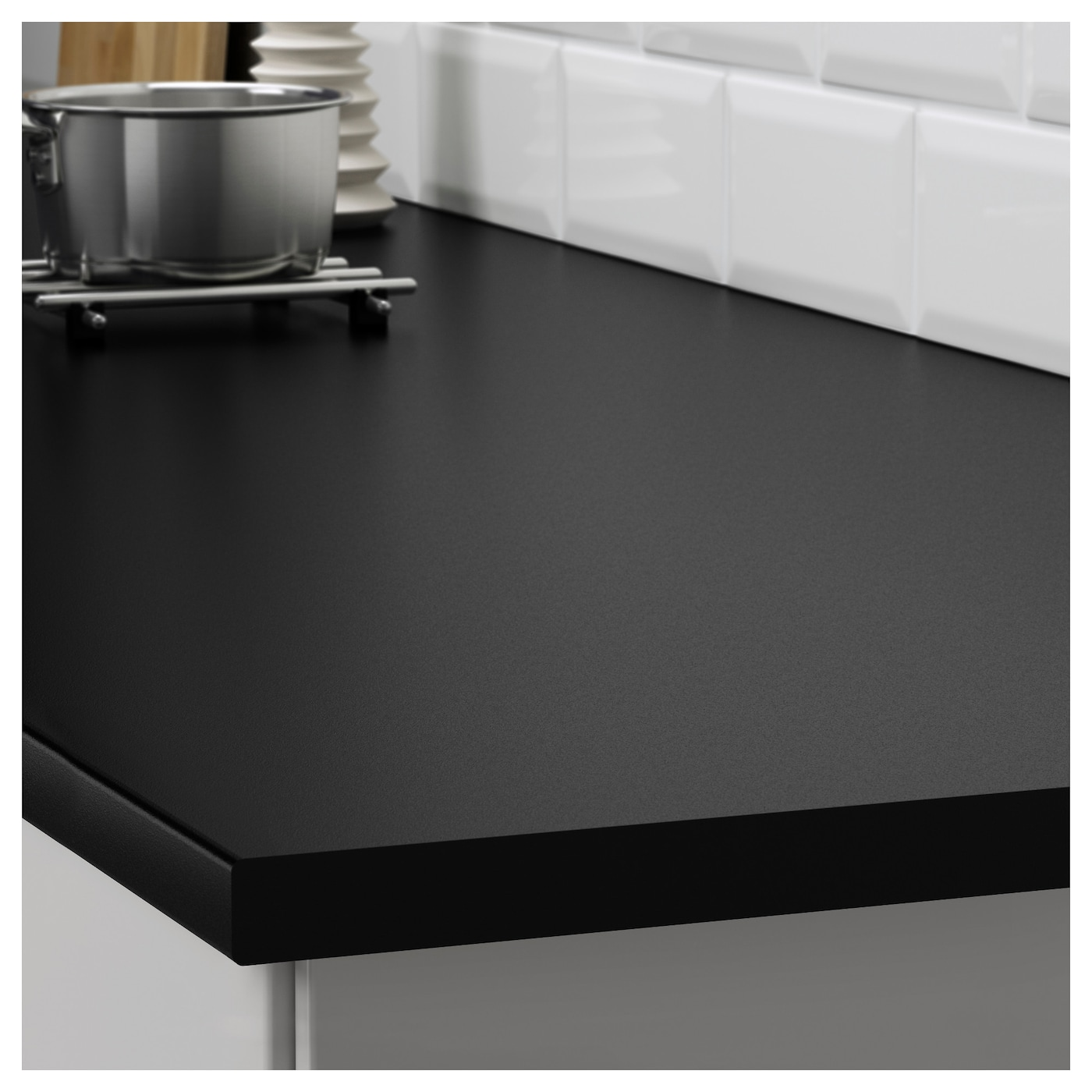 ekbacken plan de travail sur mesure noir stratifi 63 6 125x2 8 cm ikea. Black Bedroom Furniture Sets. Home Design Ideas