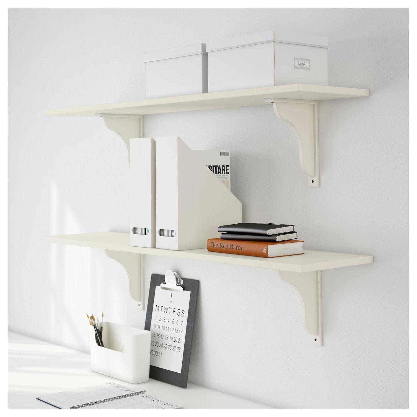 ekby hensvik ekby hemnes tag re murale teint blanc blanc 119 x 28 cm ikea. Black Bedroom Furniture Sets. Home Design Ideas