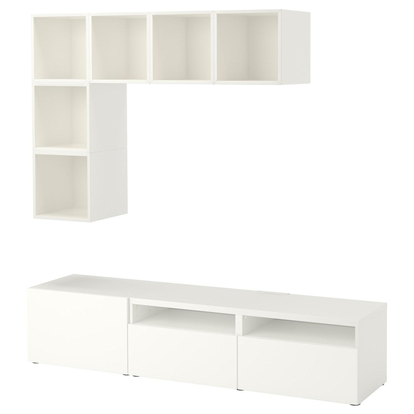eket best combinaison rangement tv blanc 180 x 40 x 170 cm ikea. Black Bedroom Furniture Sets. Home Design Ideas