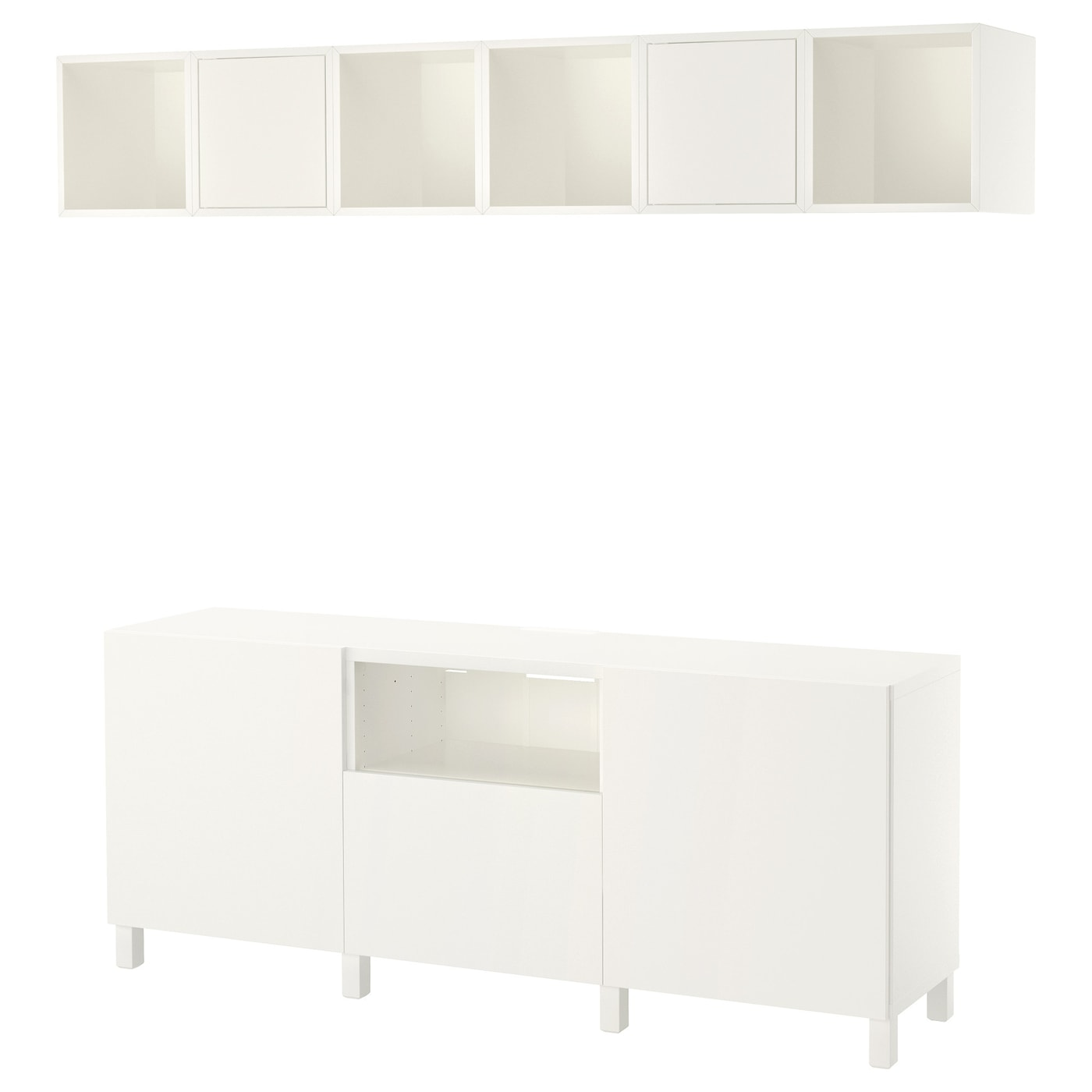 eket best combinaison rangement tv blanc 210x40x220 cm ikea. Black Bedroom Furniture Sets. Home Design Ideas