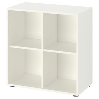 EKET Combinaison rangement avec pieds, blanc, 70x35x72 cm