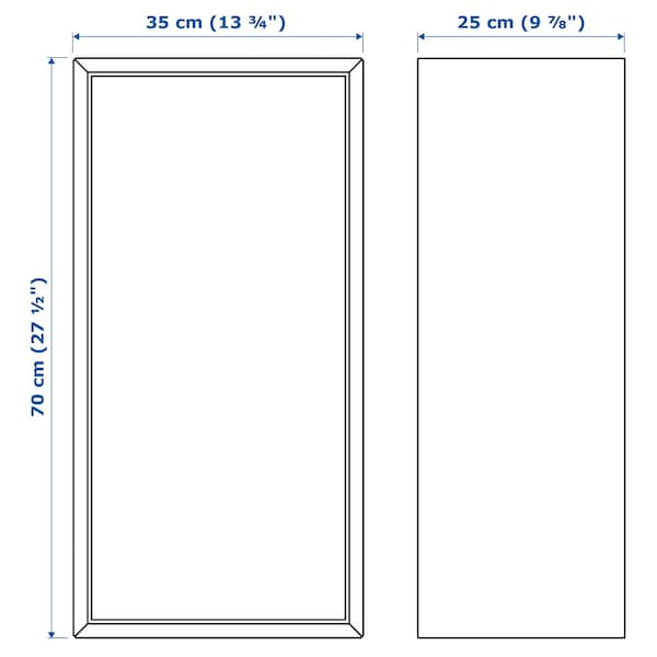 EKET Élément 1 porte et 2 tablettes, gris foncé, 35x25x70 cm
