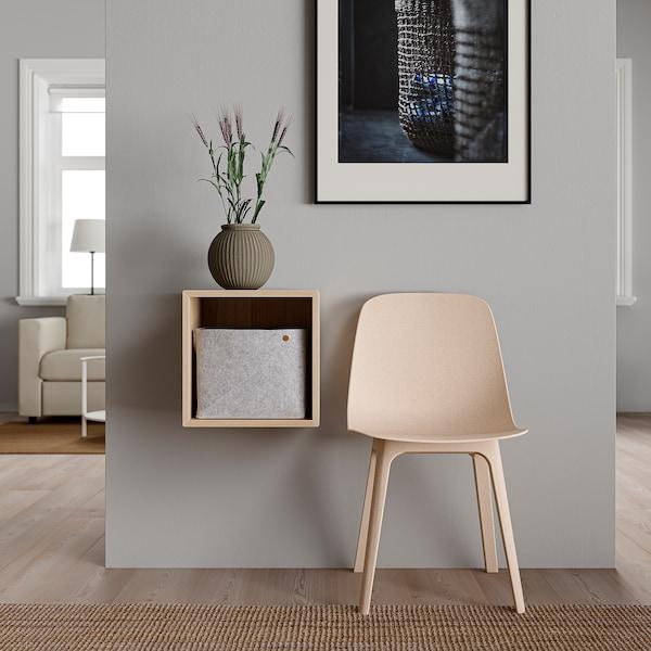 EKET Étagère murale, effet chêne blanchi, 35x35x35 cm