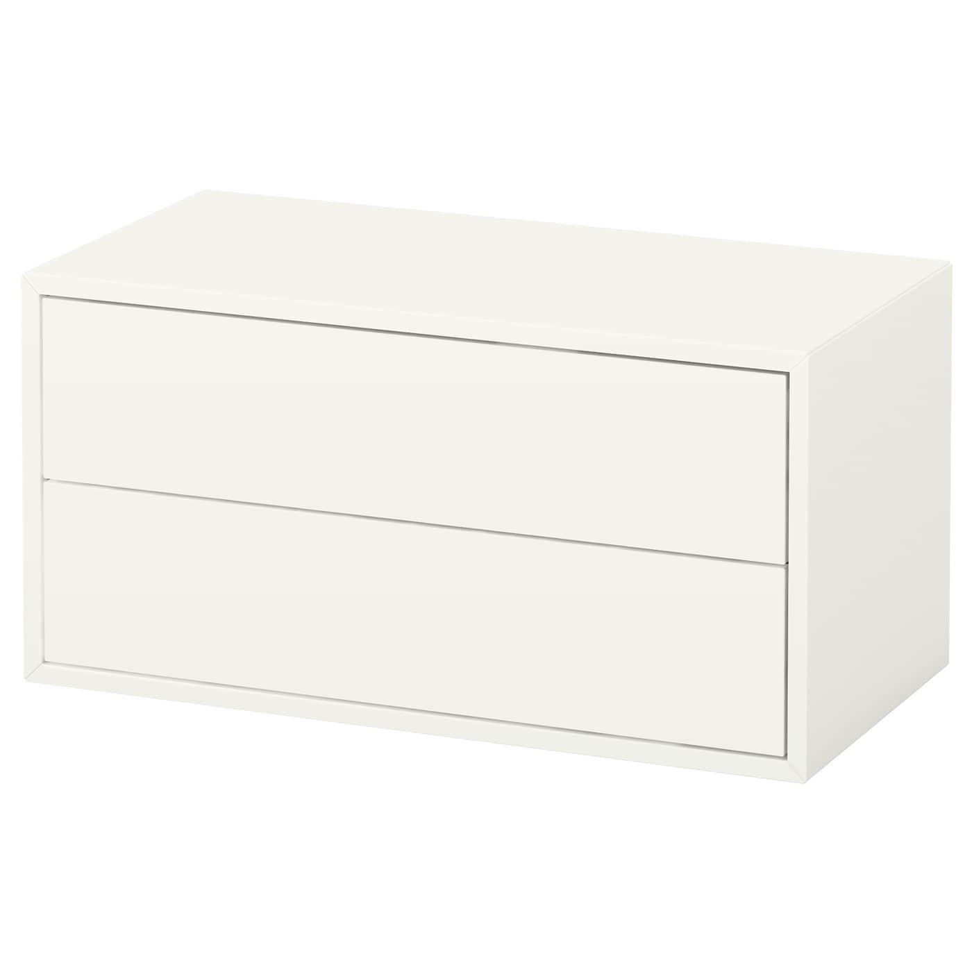 eket rangement 2 tiroirs blanc 70x35x35 cm ikea. Black Bedroom Furniture Sets. Home Design Ideas