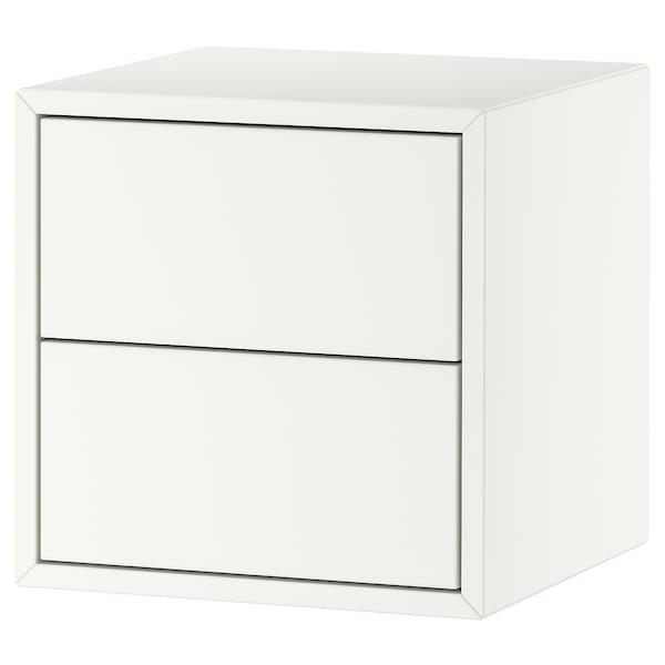 EKET Rangement 2 tiroirs, blanc, 35x35x35 cm