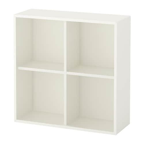 eket rangement 4 compartiments blanc 70x25x70 cm ikea. Black Bedroom Furniture Sets. Home Design Ideas