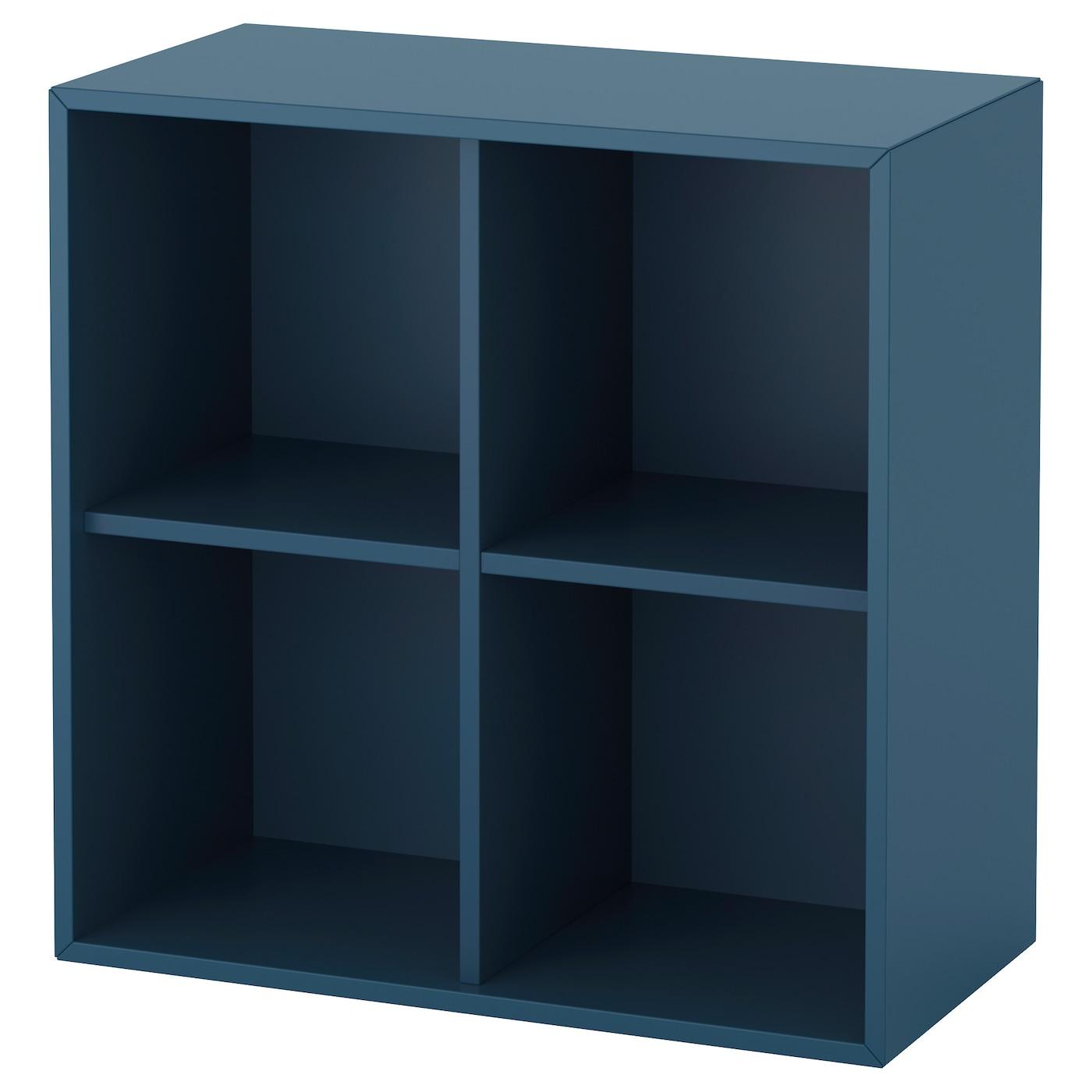 eket rangement 4 compartiments bleu fonc 70x35x70 cm ikea. Black Bedroom Furniture Sets. Home Design Ideas