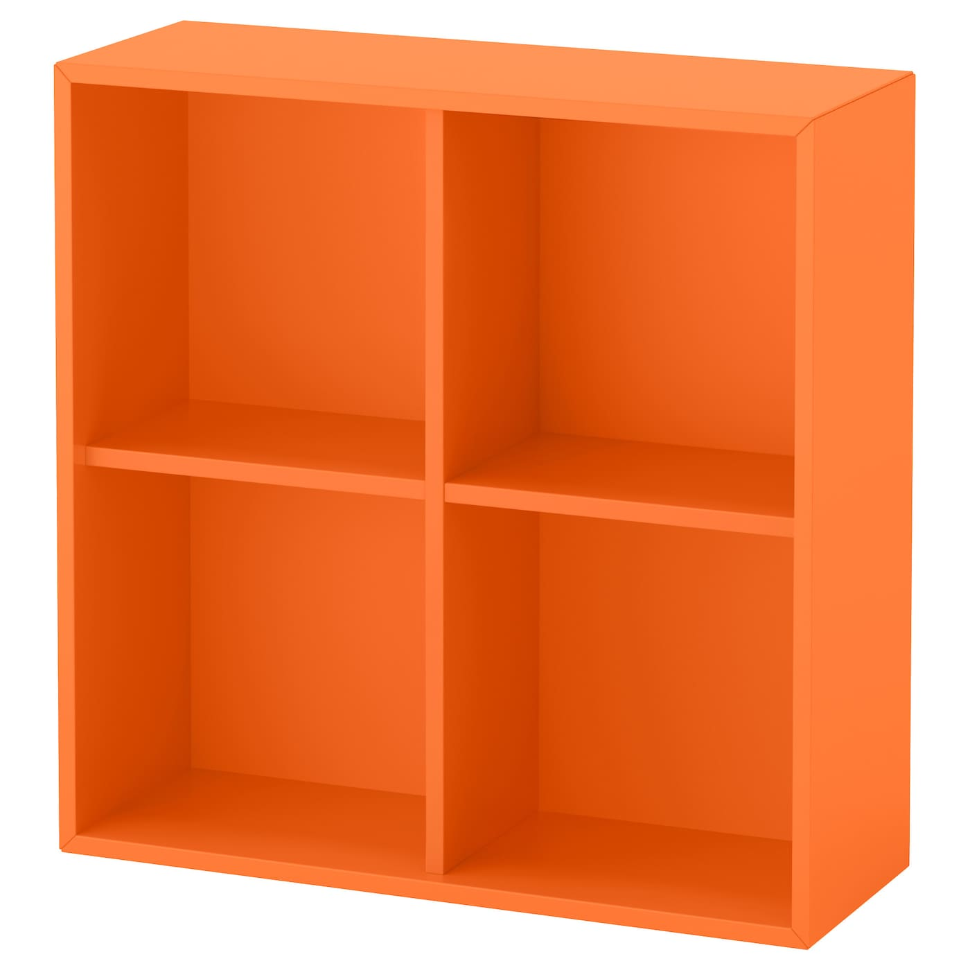 eket rangement 4 compartiments orange 70x25x70 cm ikea. Black Bedroom Furniture Sets. Home Design Ideas