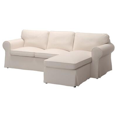 EKTORP canapé 3 places avec méridienne/Lofallet beige 252 cm 88 cm 88 cm 163 cm 45 cm