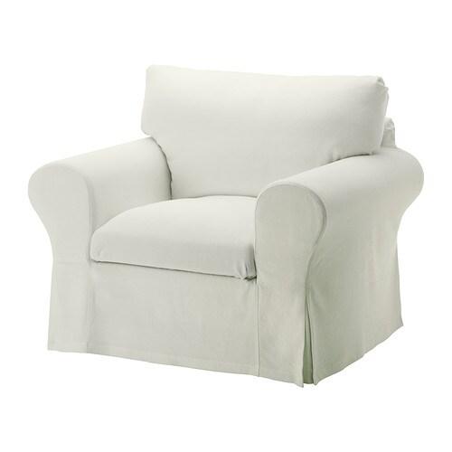 Ektorp housse de fauteuil sten sa blanc ikea for Housse fauteuil ikea